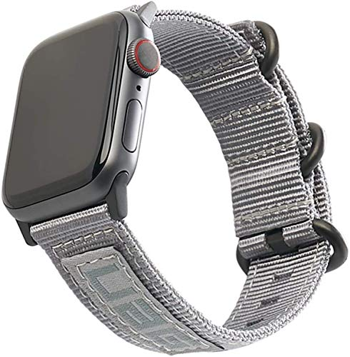 apple watch series 6 price drops as low as 339 today only URBAN ARMOR GEAR UAG Compatible Apple Watch Band 40mm 38mm, iWatch Series 6/5/4/3/2/1 & Watch SE, High Strength Nylon Weave Replacement Strap, Nato Grey
