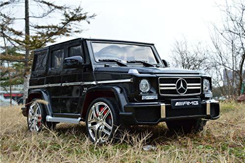 Kinderauto Elektroauto Mercedes Benz G63 AMG Original Lizenz Kinderauto Kinderfahrzeug Elektro Spielzeug für Kinder Schwarz-Metallic USB SD Anschluss*