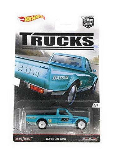 Hot Wheels Car Culture Trucks Datsun 620 Pickup 5/5, Teal