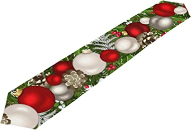 A Seed Table Runner Christmas New Year Winter Red Green 13x90 Inches Extra Long Table Runners