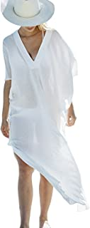 Stylish Deep V-Neck Design Long Beach Top/Swimsuit Cover Up