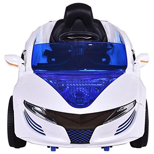 RC Auto kaufen Kinderauto Bild 2: COSTWAY 2.4G Elektroauto Kinderauto Elektrofahrzeug Kinderfahrzeug Elektro Auto Zwei Motor mit Fernbedienung und Musik (Weiß)*