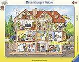 Ravensburger Kinderpuzzle 06154 - Blick ins Haus - Rahmenpuzzle -