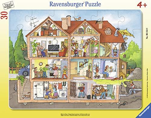 Ravensburger Kinderpuzzle - 06154 Blick ins Haus - Rahmenpuzzle für Kinder ab 4 Jahren, mit 30 Teilen