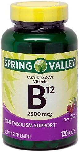 Spring Valley Sublingual B12 Cherry ※ラッピング ※ Flavor 120 ご注文で当日配送 2500 mcg ct Mi
