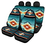 FKELYI Ethnic Aztec Tribal Design Auto Universal Seat Covers Fit Sedan,SUV, Interior Decor Seat Cushions Saddle Blanket for Protection