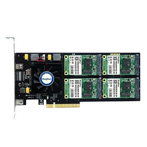 KingDian RAID 500 GB SSD PCI-Express 2.0 interne Solid State Drive für High-End-Videoerstellung & Videoaufnahmen & Server