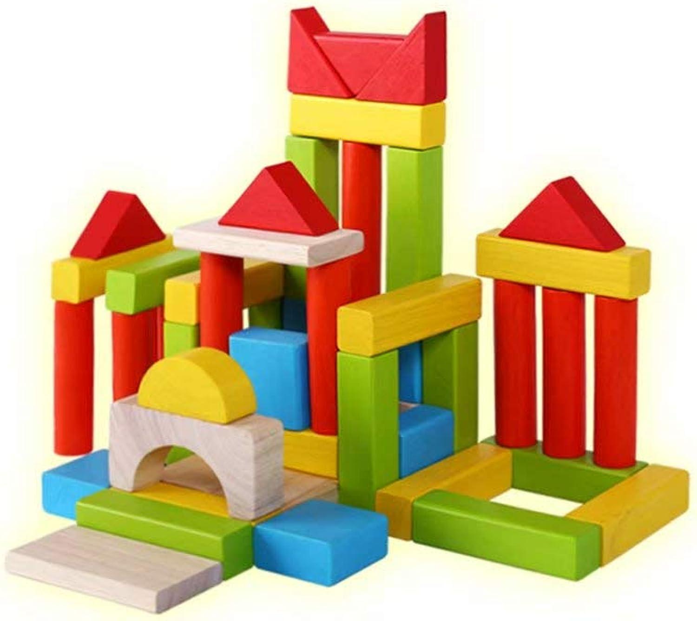 Natürlicher hlzerner Baustein-Satz für Kinder - sortierte Bunte hlzerne BAU-Blcke der Kinder für das Aufbauen des Stapelns u