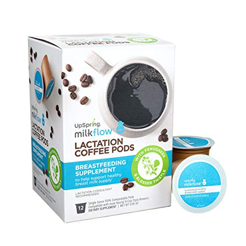 Milkflow Lactation Supplement Coffee Pods with Fenugreek and Blessed...