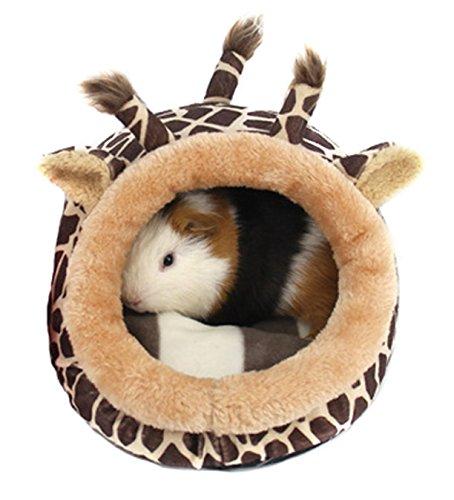 Haustierbett aus weichem Plüsch, mit herausnehmbarem Polster von Winterworm, für Hamster, Igel, Meerschweinchen, Baby und Katze