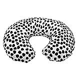 EElabper Coque de Coussin d'oreiller bébé Infirmier de bébé Respirant Coussin de Forme U en U avec Style de Fermeture à glissière cachée1