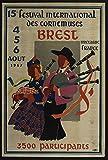 Bretagne Brest Festival Hornemuses 1967 Poster Größe 50 x