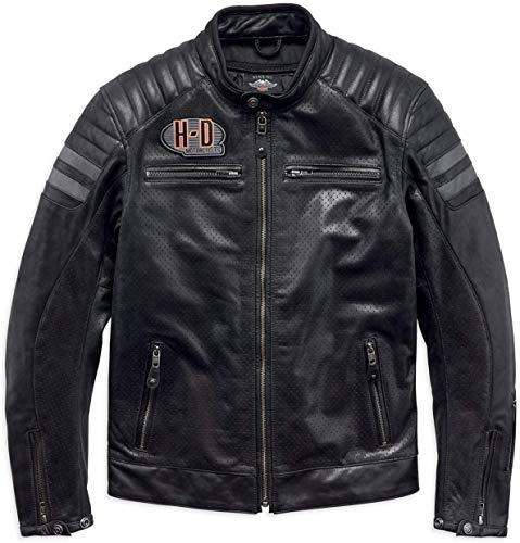 HARLEY-DAVIDSON Hutto Leder Motorrad Jacke, 97033-19EM, M