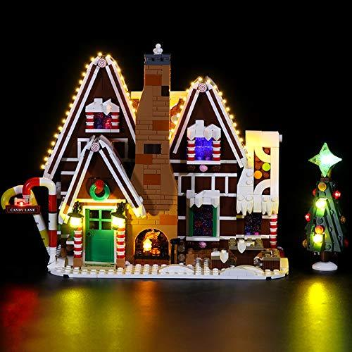 Kit De Iluminación Led para Lego Gingerbread House,Compatible con Ladrillos De Construcción Lego Modelo 10267(NO Incluido En El Modelo),Classic Version