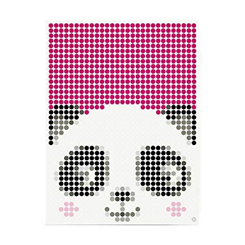 dot on art Panda DIY-Poster - 30 x 40 cm – Bastelset für Kinder - Bilder mit Klebepunkten - Stickerset Mosaik Set - Aufkleber Basteln Selbermachen DIY - Panda Pandabär