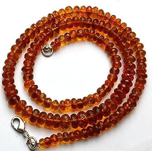 1 rang Natur 45,7  Super Rare AAA Golden Dark Citrin facettiert Rondelles Form Perlen Halskette Größe 3 s 8