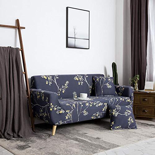 Fsogasilttlv Funda elástica para sillones 4 plazas 1 Uds, Funda de sofá seccional elástica elástica, Funda de sofá Larga, Funda Deslizante, sillón en Forma de L para Sala de Estar I