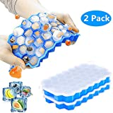Ice Cube Trays with Lids 2 Pack Silicone Mini Ice Cube Trays Flexible 74-Ice Trays Ice Trays For...