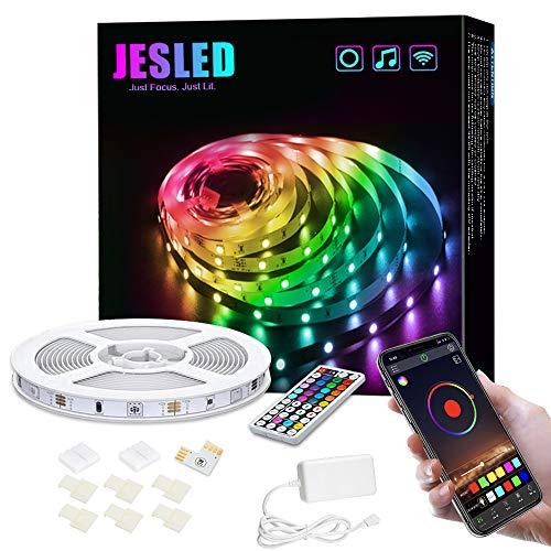 5M Luces de Tiras LED WiFi, JESLED Tira de LED RGB Compatible con Alexa, Google Home, App, LED Tira Luz Sincronización de Música, Perfecto para Navidad, Fiesta, Decoración Doméstico para Hogar