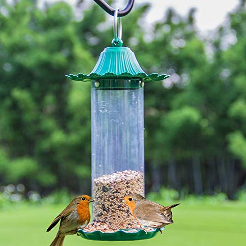 JXXDDQ Mangeoire pour Oiseaux pittoresque, Mini-Jardin extérieur en Plein air, matériau pour Abreuvoir en métal (Color : Green)