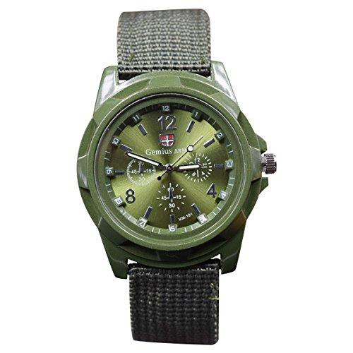 Gaetooely Neue Art und Weise, die Militaeruhren Armee Uhr Land, See und Luftwaffen Sport Uhr strickt, Gruen