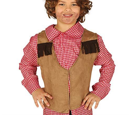 Guirca - Chaleco de vaquero, para niños, color marrón (16162)