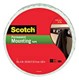 3M Scotch Indoor Mounting Tape, 0.75-inch x 350-inches, White, 1-Roll (110-Long)