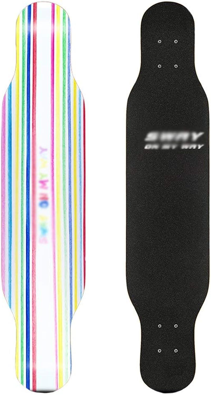 DUWEN-Skateboard-Ahorn-langes Brett-Erwachsene Anfänger-Jungen und Mädchen bürsten Straßentanz-Brett-Teenager-Vierrad-Roller (Farbe     C) B07P6VS3JG  Neue Produkte im Jahr 2018 373fb3