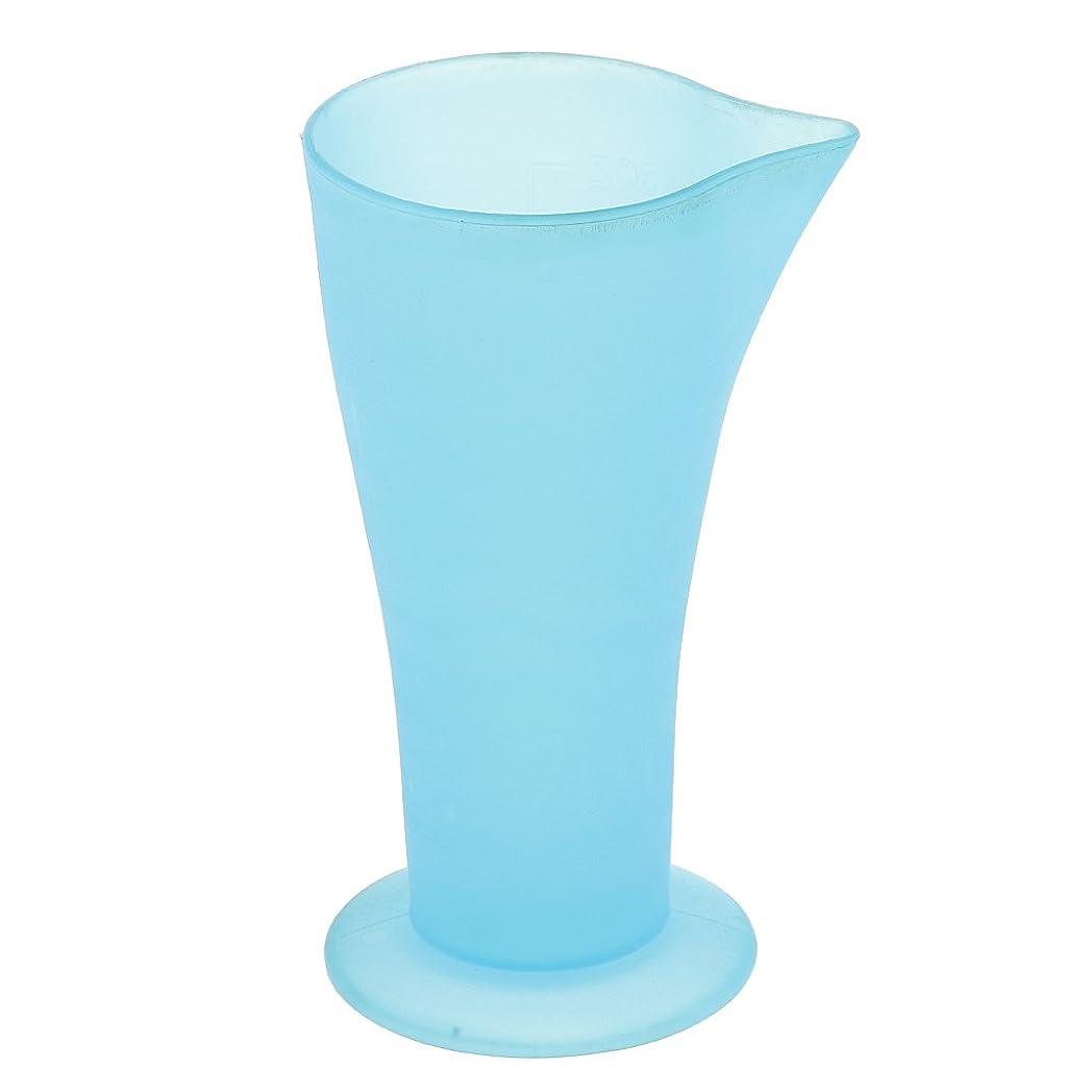 鳩飛ぶポンペイKesoto 計量カップ ヘアダイカップ ヘアカラーカップ ヘアダイ容器 ブルー プラスチック 再使用可能 髪型 サロン 髪の色合い 色測定カップ