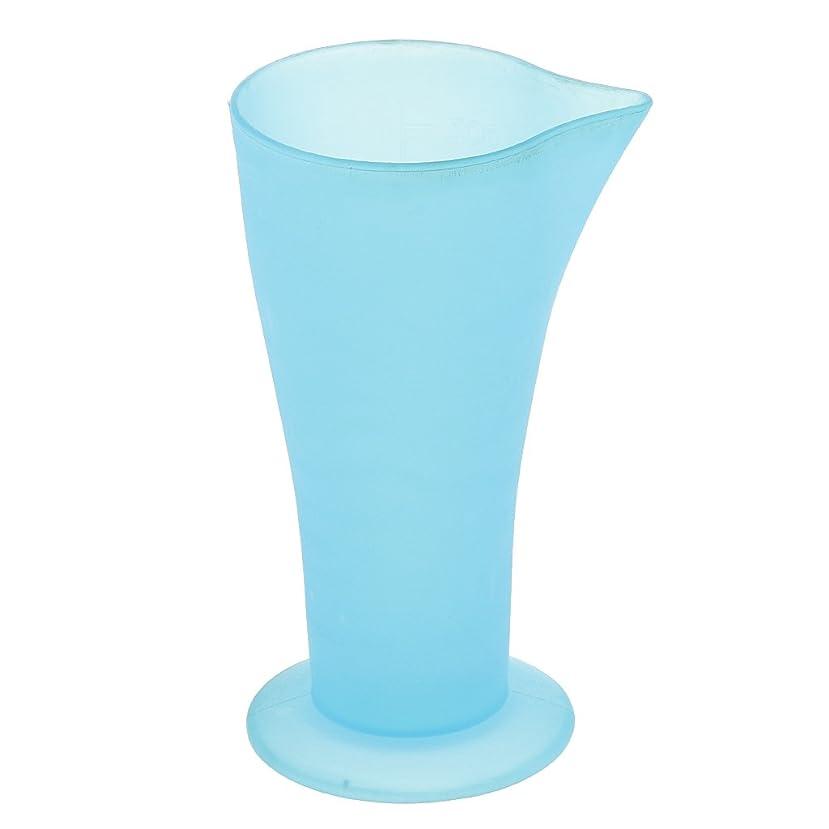 大気毎年祖父母を訪問Perfk 計量カップ ヘアダイカップ ブルー プラスチック 再使用可能 髪型 サロン 髪の色合い 色の混合用