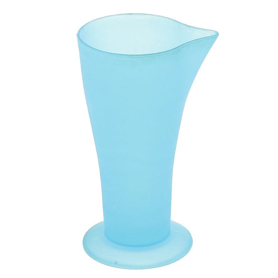 ビジュアルミンチ気候の山Kesoto 計量カップ ヘアダイカップ ヘアカラーカップ ヘアダイ容器 ブルー プラスチック 再使用可能 髪型 サロン 髪の色合い 色測定カップ