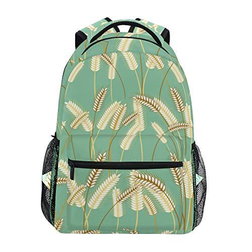 Rucksack Fashion Laptop Daypack Pflanze Gerste Gras Getreide Reise Rucksack für Damen Herren Mädchen Jungen Schultasche College Schultasche Canvas