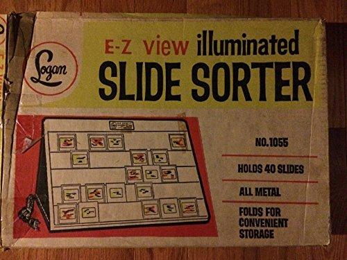 Logan 1055 E-Z View Flat Folding Slide Sorter for 40 Slides 12 x 16in. 750485