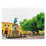 Rompecabezas de República Dominicana de 500 piezas para adultos niño de madera regalo recuerdo 20.5 x 15 pulgadas (FX01564)