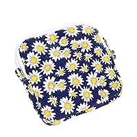 シンプルライフ、ライフアシスタント 新鮮で美しい女の子の衛生綿の貯蔵袋(青)、指定:11.5 * 11.5cm (色 : Chrysanthemum)