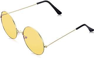 FSDELIV - Gafas de sol vintage retro redondas para hombre y mujer, con marco de aleación