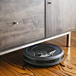 Shark ION Robot App-Controlled Robot Vacuum, RV761 - Black/Navy Blue (Renewed) 8 Schedule cleanings and control robot with Shark Clean(tm) app, Alexa, and Google Assistant. Powerful cleaning with more suction than Shark RV750. Multi-surface brushroll captures debris and hair on carpets and hard-floors.