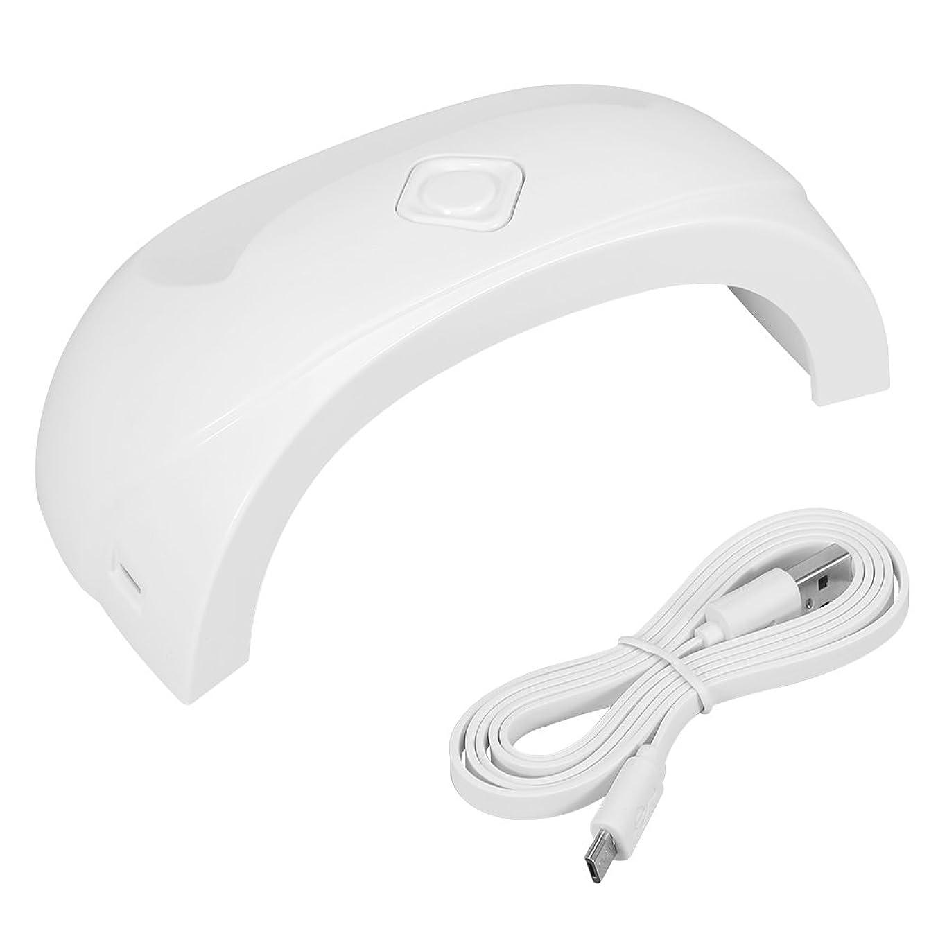 離れて情緒的バックアップUVライト 18W UVLED ネイルライト高速硬化ジェルネイルライト赤外線検知 自動センサー 三つLEDライト付き ホワイト
