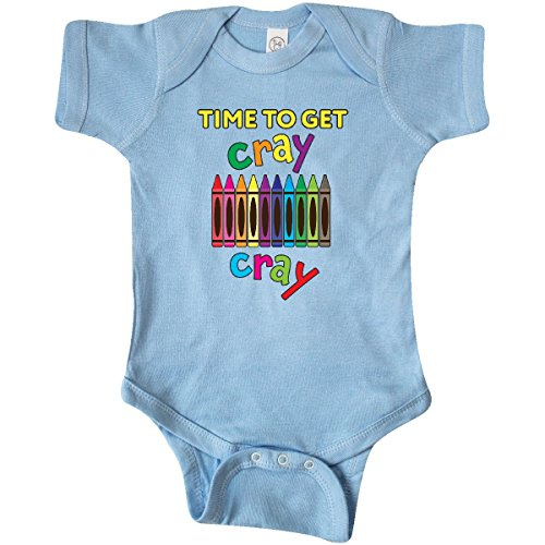 inktastic Time to Get Cray Cray Crayons Infant Creeper Newborn Light Blue 28b39