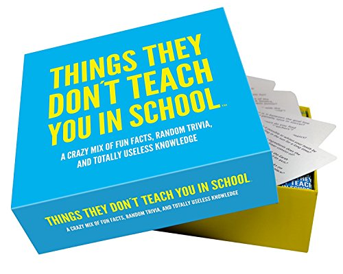 Things they don´t teach you in school – party trivia game