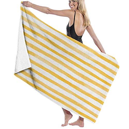 SFWER Acuarela Estilo Rayas desiguales Microfibra Personalizada Toallas de Playa Piscina Toallas de baño de Secado rápido 32 'x52' 100% algodón Absorbente Suave para Playa, Piscina, SPA, baño, natac