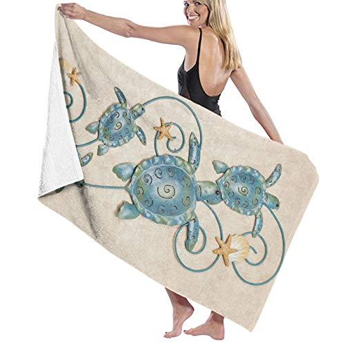Toallas de baño de metal para pared, de secado rápido, suave, toalla de ducha de playa, 130 x 80 cm
