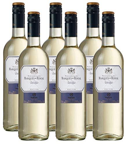 Marqués de Riscal Verdejo - Trockener Weißwein aus der Region Rueda in Spanien (6 x 0,75l)