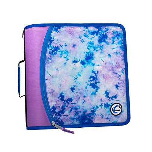 Case-It T641P Zipper Binder, 3-Inch Capacity, with 5-Tab Expanding File,...