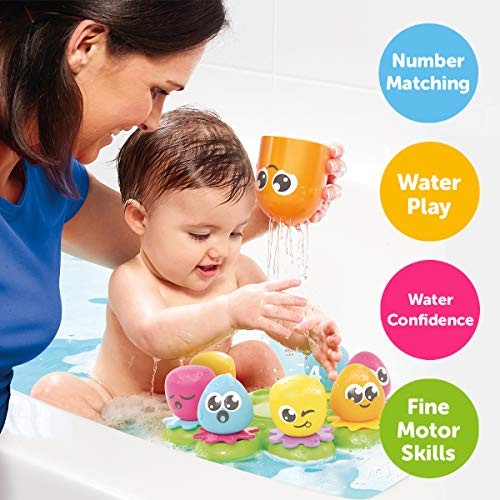 TOMY Toomies Octopals Number Sorting Baby Bath Toy   Educational Water Toys For Toddlers   Suitable For 1, 2 & 3 Years Old Boys & Girls