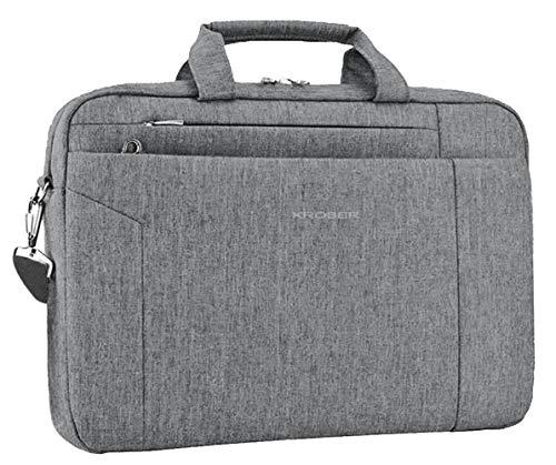 KROSER Laptop Ventiquattrore Borsa per PC Portatile da 15,6 Pollici e Tablet Borsa per Laptop per Donne e Uomo Messenger Spalla Borsa Tracolla da Viaggio Borsa e Messenger Grigio