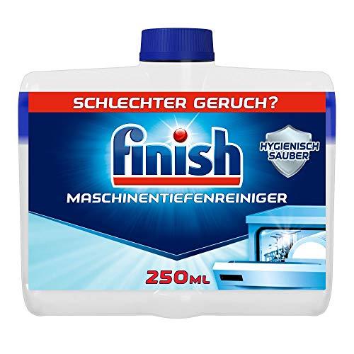 Finish Maschinentiefenreiniger – Flüssiger Maschinenreiniger gegen Kalk und Fett für eine saubere Spülmaschine – 1 x 250 ml Maschinenpfleger