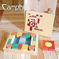 Camphill(キャンプヒル) ボットン村のつみ木 28ピース【CA21200】