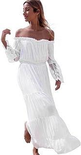 6a12faddf Amazon.es: ropa hippie - Blanco / Vestidos / Mujer: Ropa