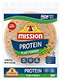 Mission Protein Plant Powered Tortilla Wraps, High Fiber, Low Carb, Vegan - 2 Packs